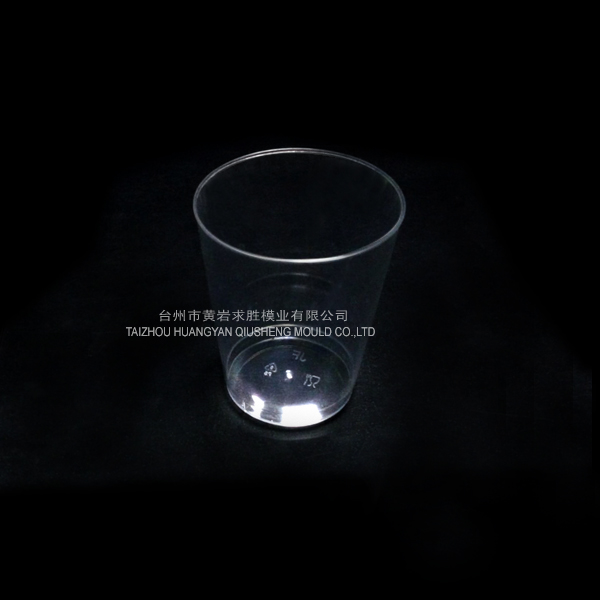 PS transparent round wine glass cup container plastic mould