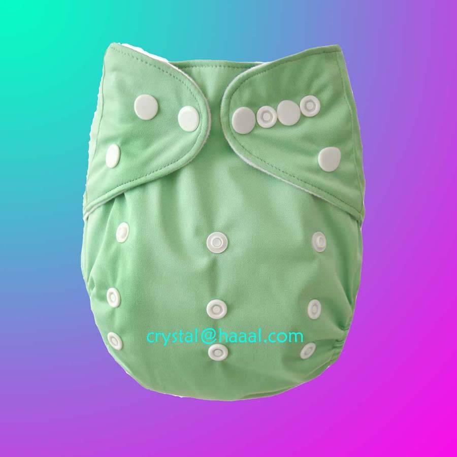 Green solid color cloth diaper