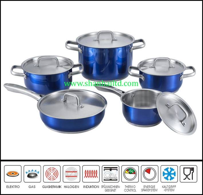 Newest 10Pcs stainless steel stock pot set
