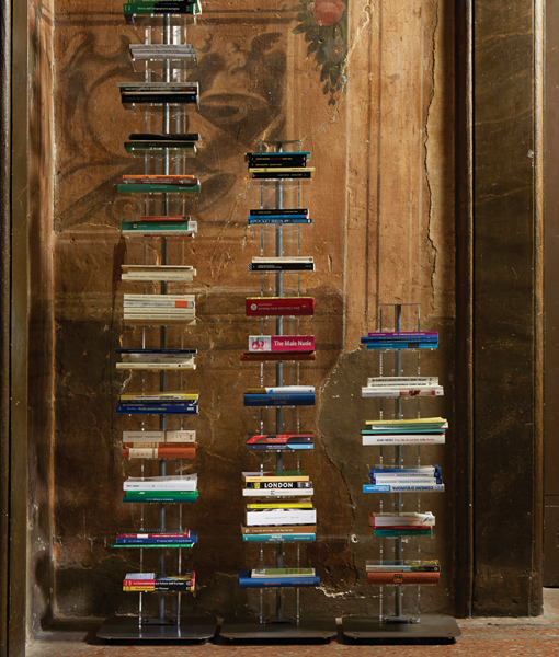 Living Furniture Bookcase in Transparent Methacrylate by Emporium Italy