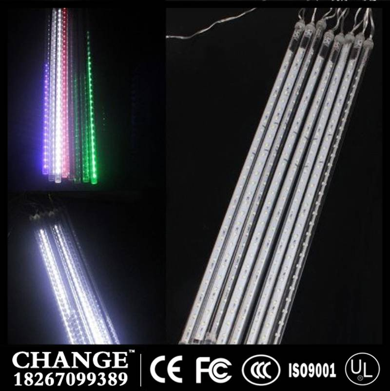 LED christmas lights 8pcs/set Snowfall Tube 50cm Meteor Rain Led Tube Light AC110-240V for holiday