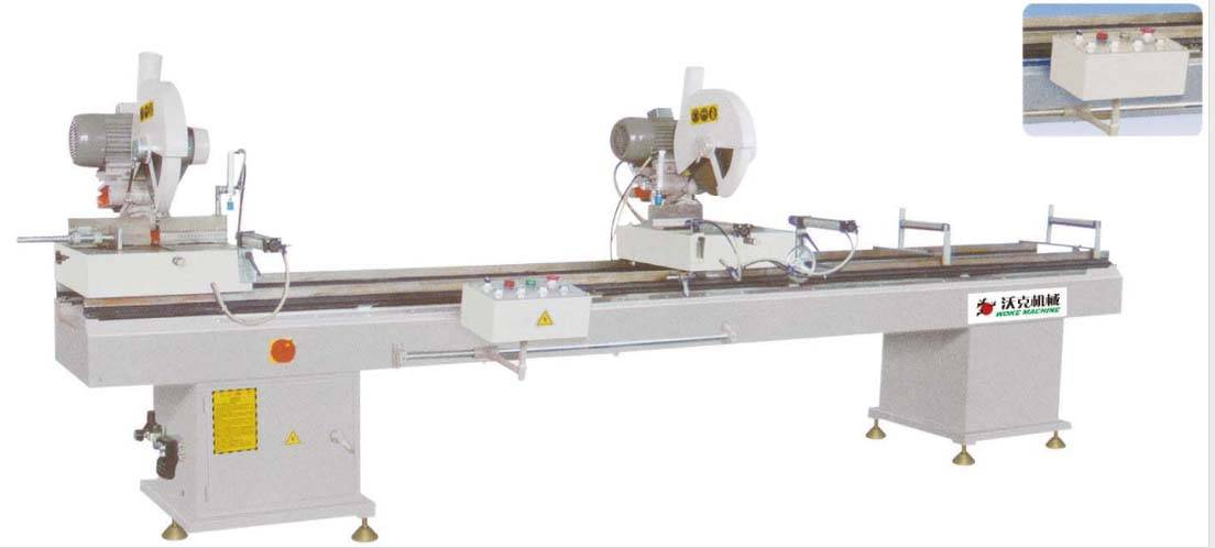 aluminum window door two-head cutting saw machine