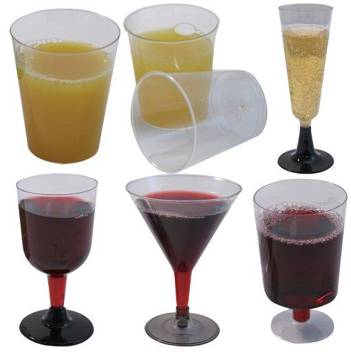 PLASTIC WINE GOBLETS