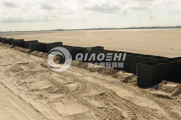 QiaoShi galfan steel military barrier  sandbag wall