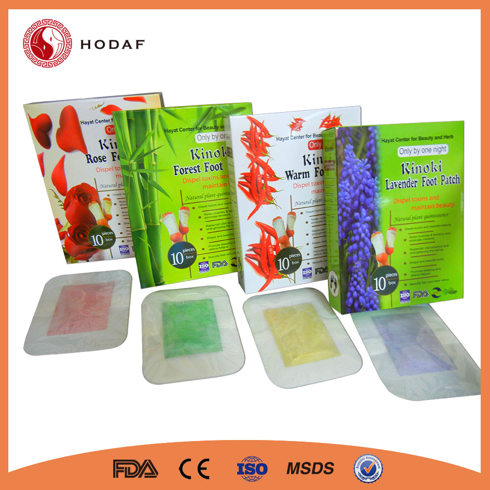 OEM 2017 China FDA Aroma 2 in 1 Detox Foot Patch