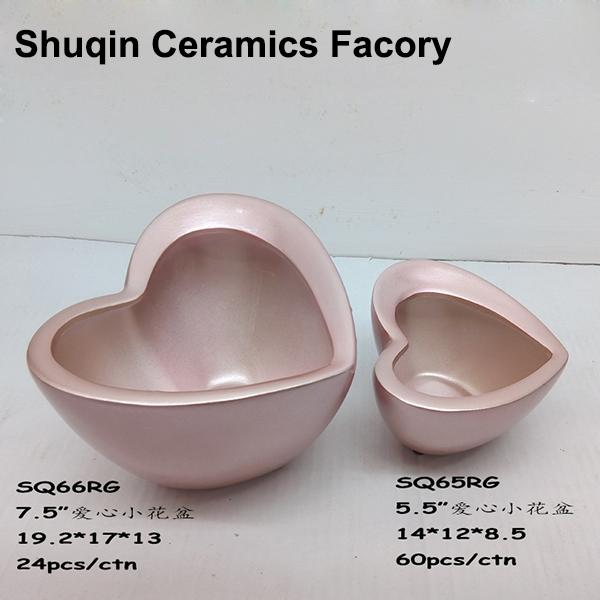 ceramic pot in heart shape