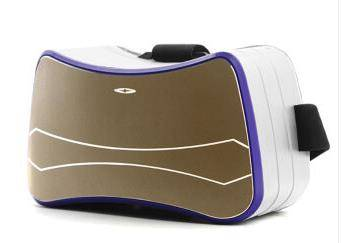 vr VR virtual reality glasses-one 3D movie vr glasses gold single panel purple box