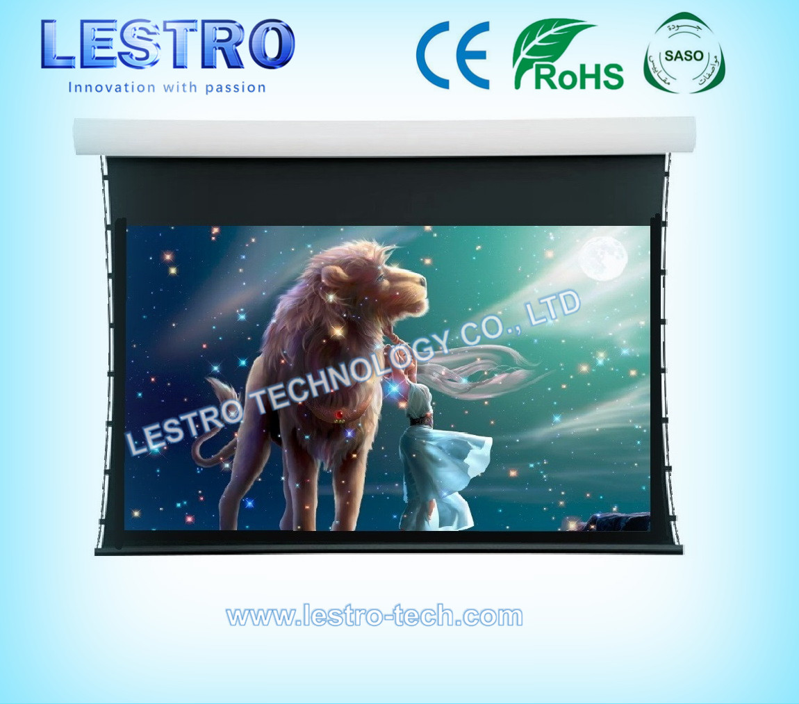 Lestro Convenient and Sleek ElectricTension Projection Screen
