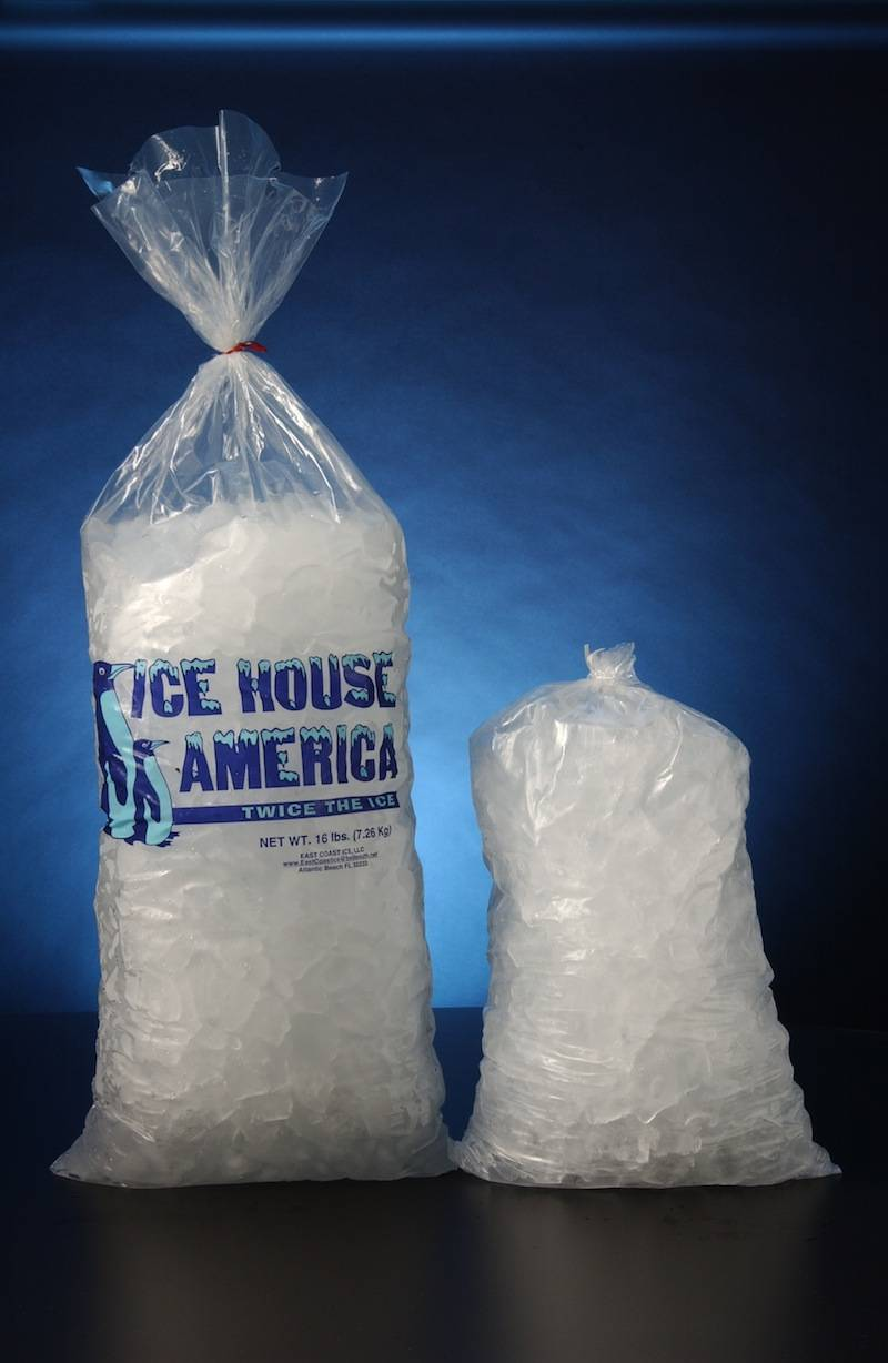 2015 Transparent Plastic Flag Ice Bags With Logo
