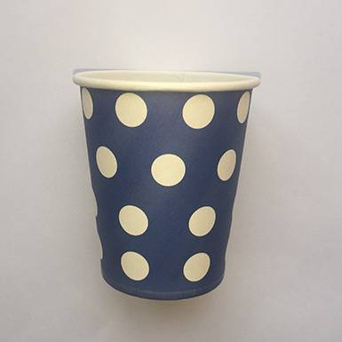 Wholesale colorful custom Royal Blue Polka Dot Paper Cups