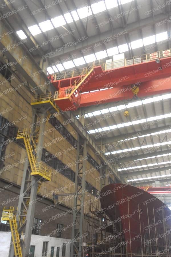 Shipbuilding double girder overhead bridge crane