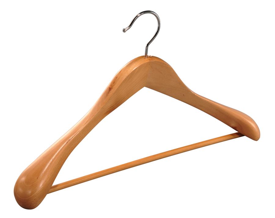Deluxe wooden coat hangers for men suit wide shoulder hangers