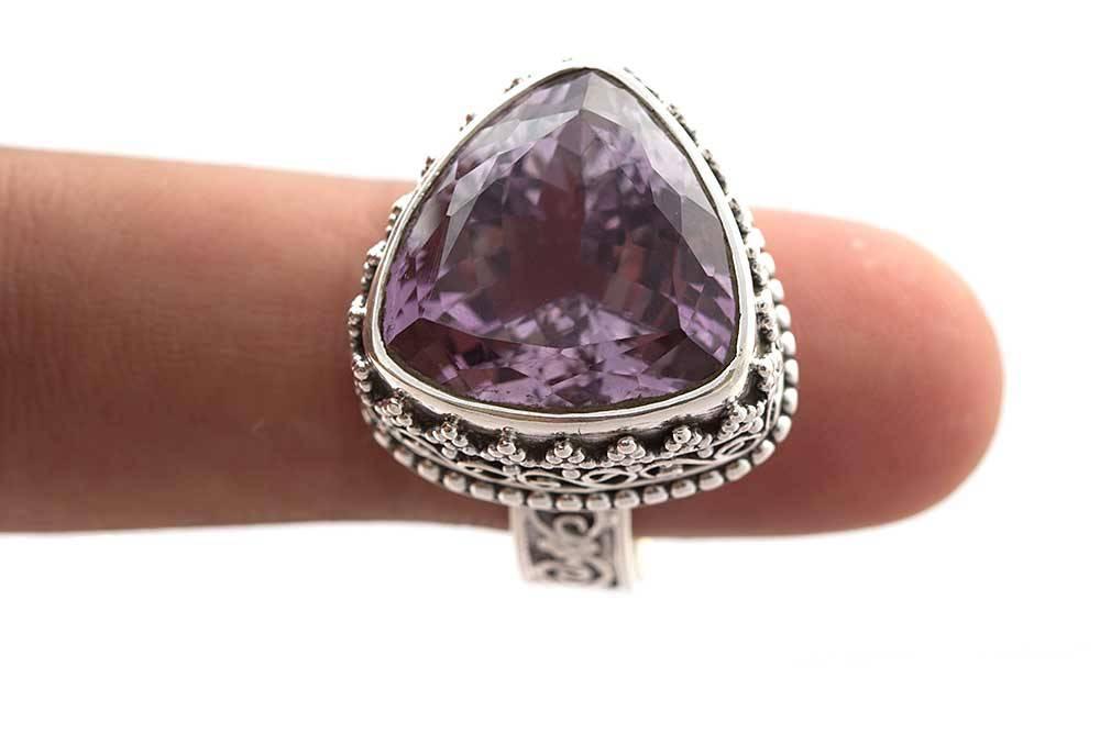 92.5 sterling silver Amethyst Ring