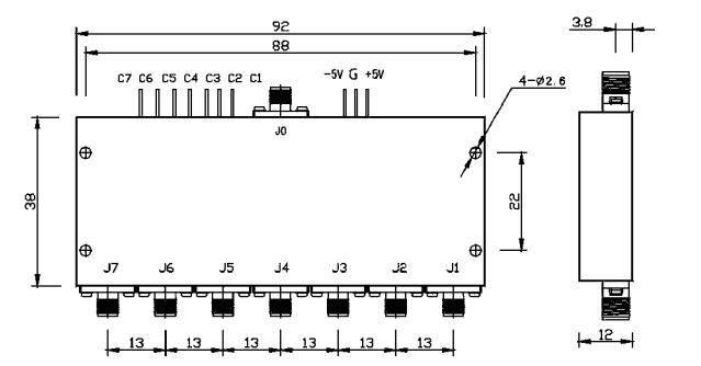 4-8GHz  SP7T RF Switch - MSW7-040080A