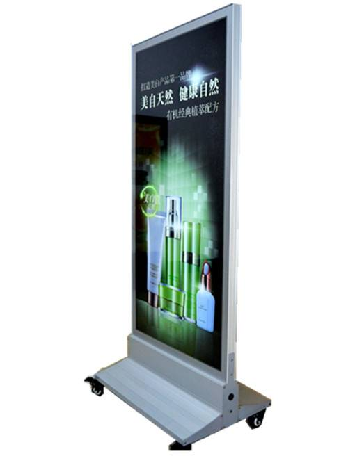 Indoor free stand double side magnetic light box