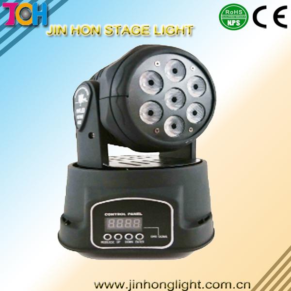 7X10W LED MINI WASH MOVING HEAD LIGHT