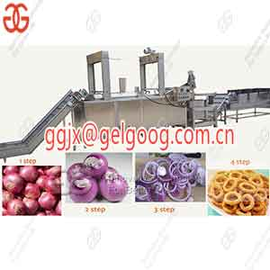Onion Ring Process line|Fried Onion Rings Production Machine