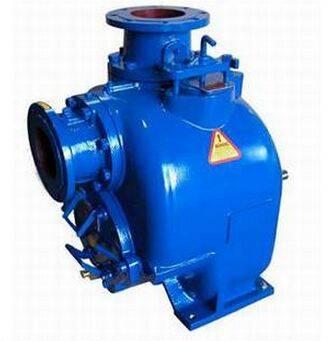 self-priming non clog sewage pump