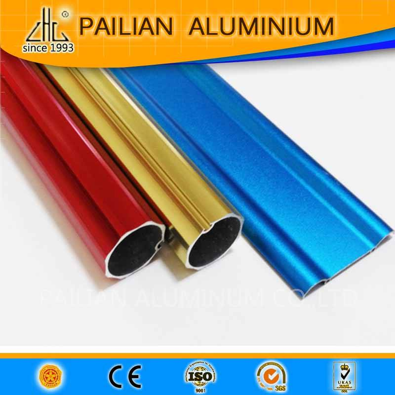 ZHL new product aluminium profiles with  anodized red ,gold ,blue colour finish