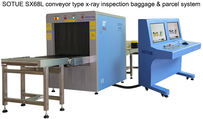 Conveyor type x-ray inspection system, baggage scanner, x-ray machine