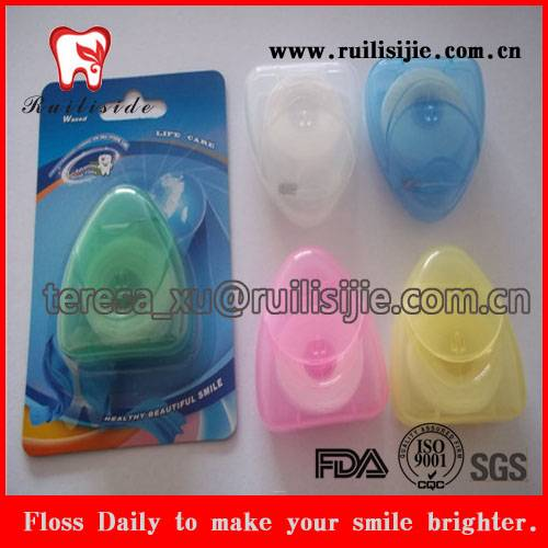 Triangle Shape Gifts for Dental Promotion, Dental Floss Triangle Shape Container