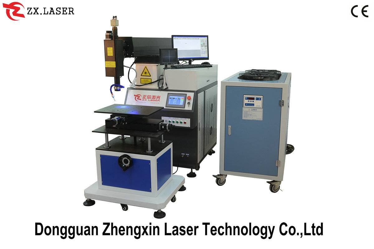 Automatic laser welding machine for glasses