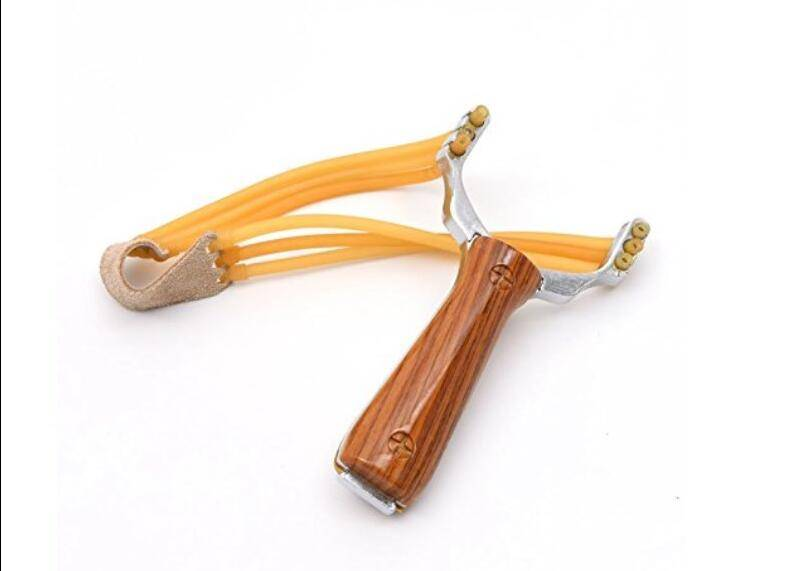 Outdoor Hunting Slingshot Aluminium Alloy Powerful Slingshot Bow Hunting Catapult