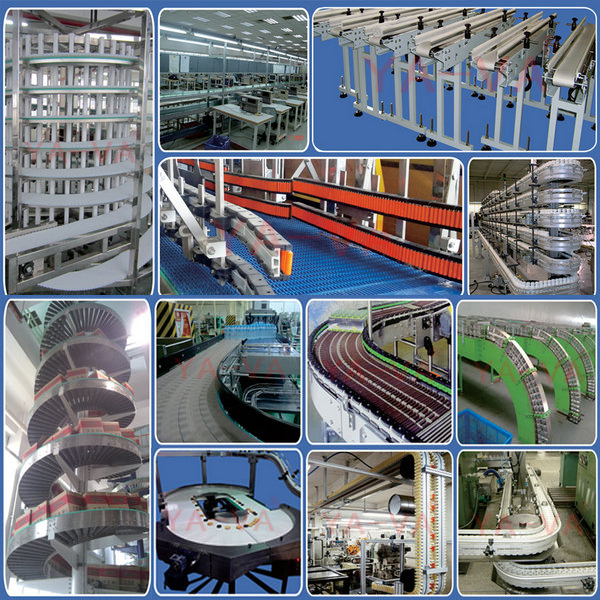 food grade aluminum inclined chain conveyor