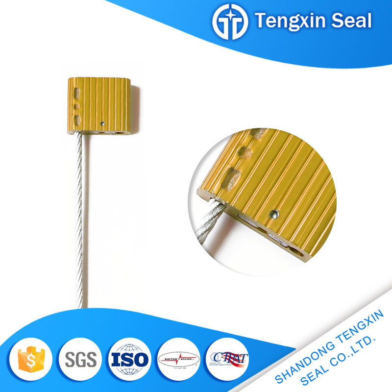 TX-CS105 Aluminum modern materials with laser printing wire cable seal