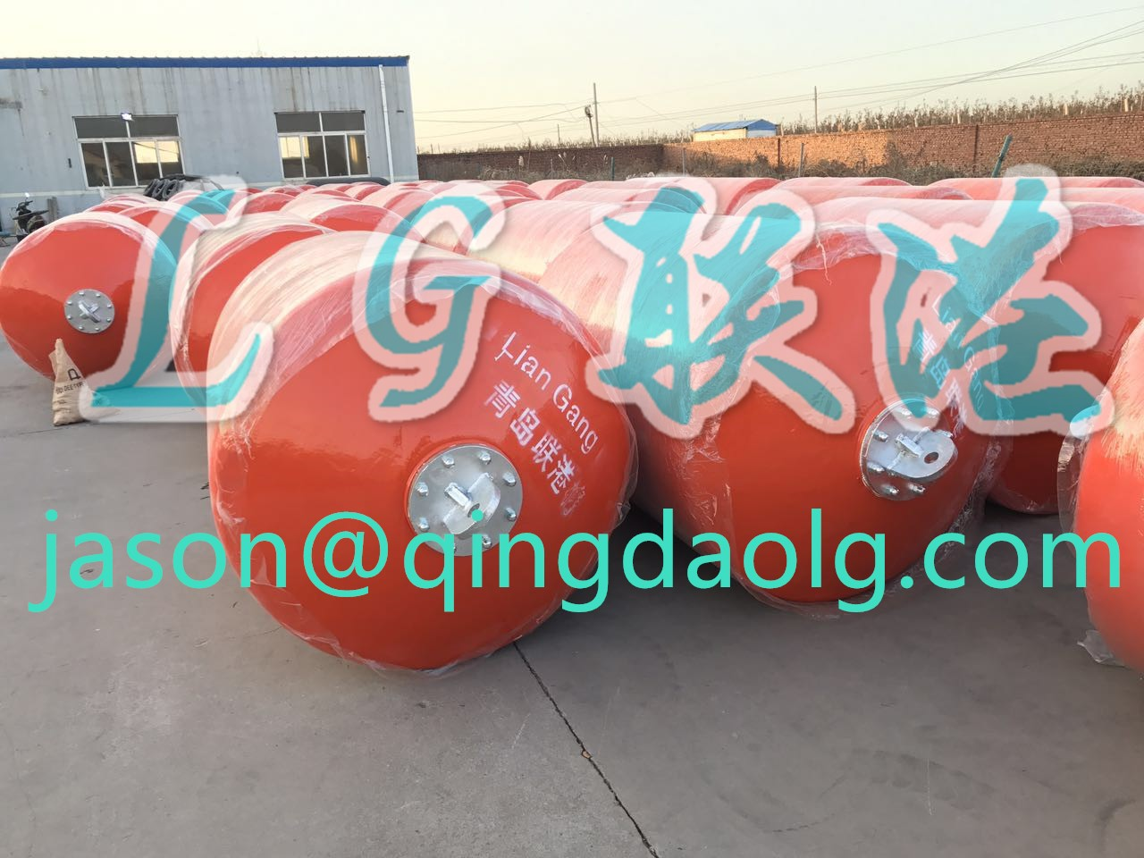 Largest factory for marine ship foam filled fenders in China