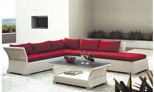 Hotel furniture rattan/wicker sofa ( F830 )