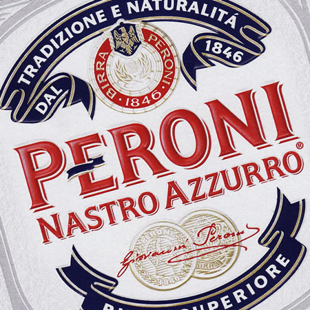PERONI Nastro Azzurro and Red beers