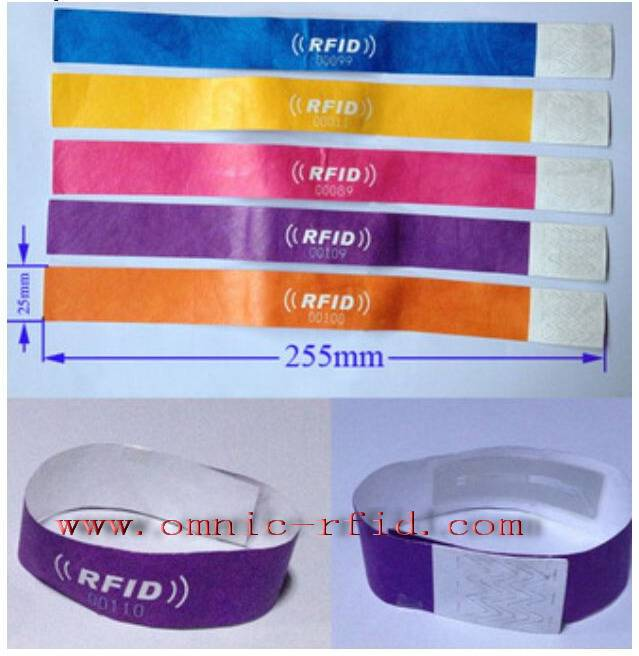 RFID Paper Disposable Medical Wristbands