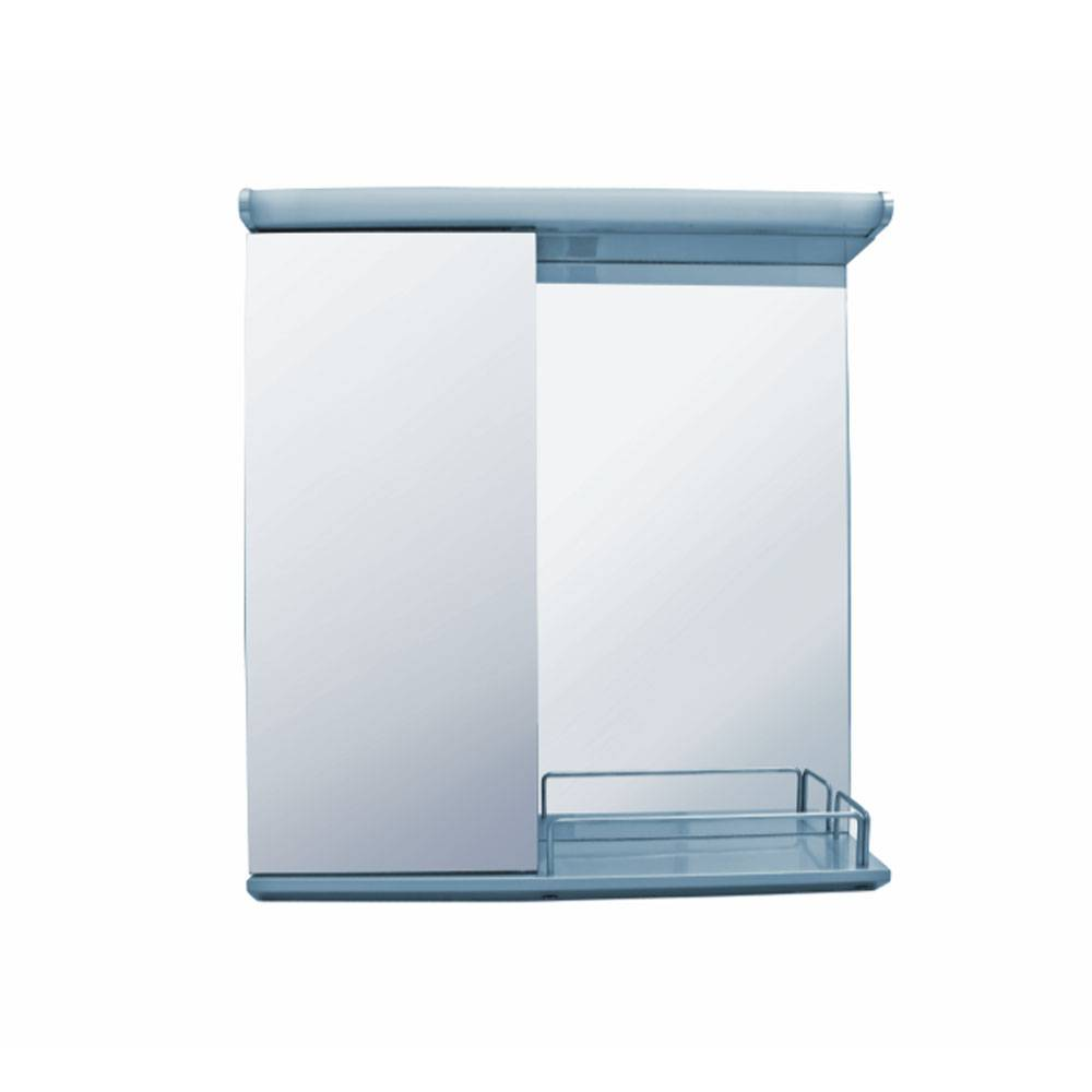 Naval single-door mirror cabinet with LED light