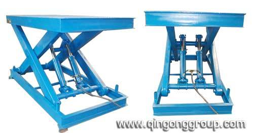 Stationary Scissor Lift Table for CNC Machine