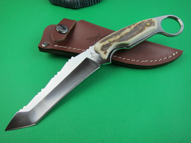 Hunter Knife deer horn  Handle Outdoor tool