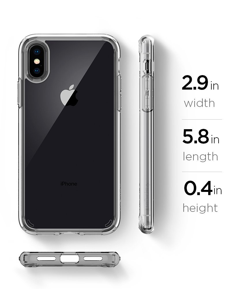 iPhone X Case, Ultra Hybrid with Air Cushion Technology Hybrid Drop Protection for iPhone