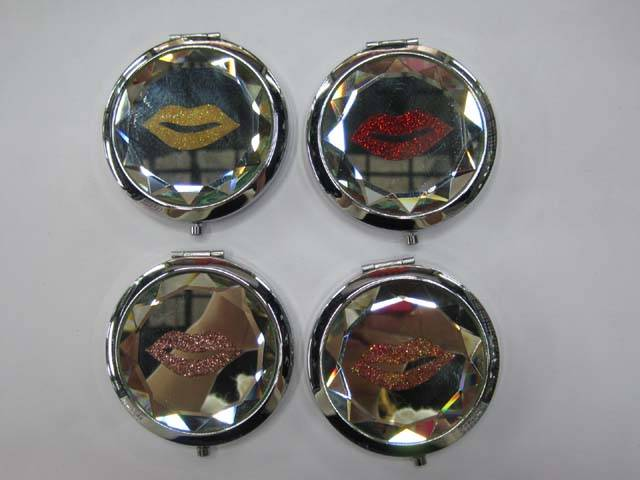 Glitter Crystal Makeup Mirror Fashion Portable Cosmetic Mirrors