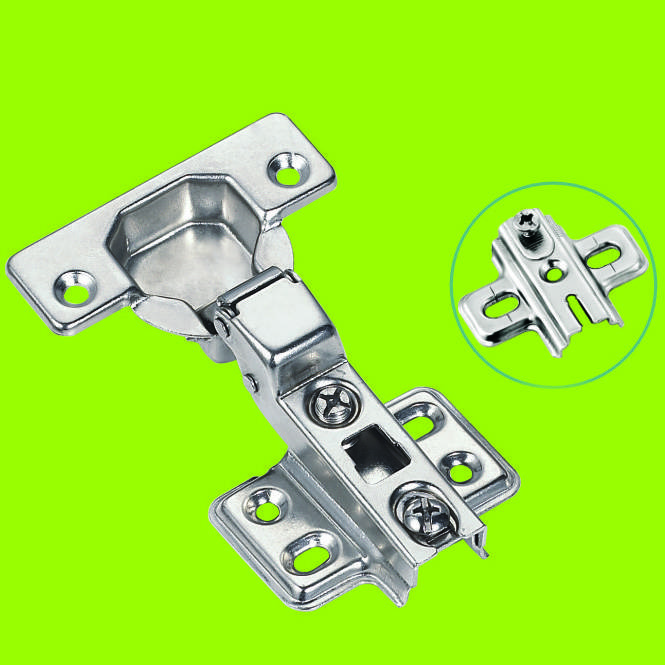 two way hinge half-overlay hinges Nickel finished