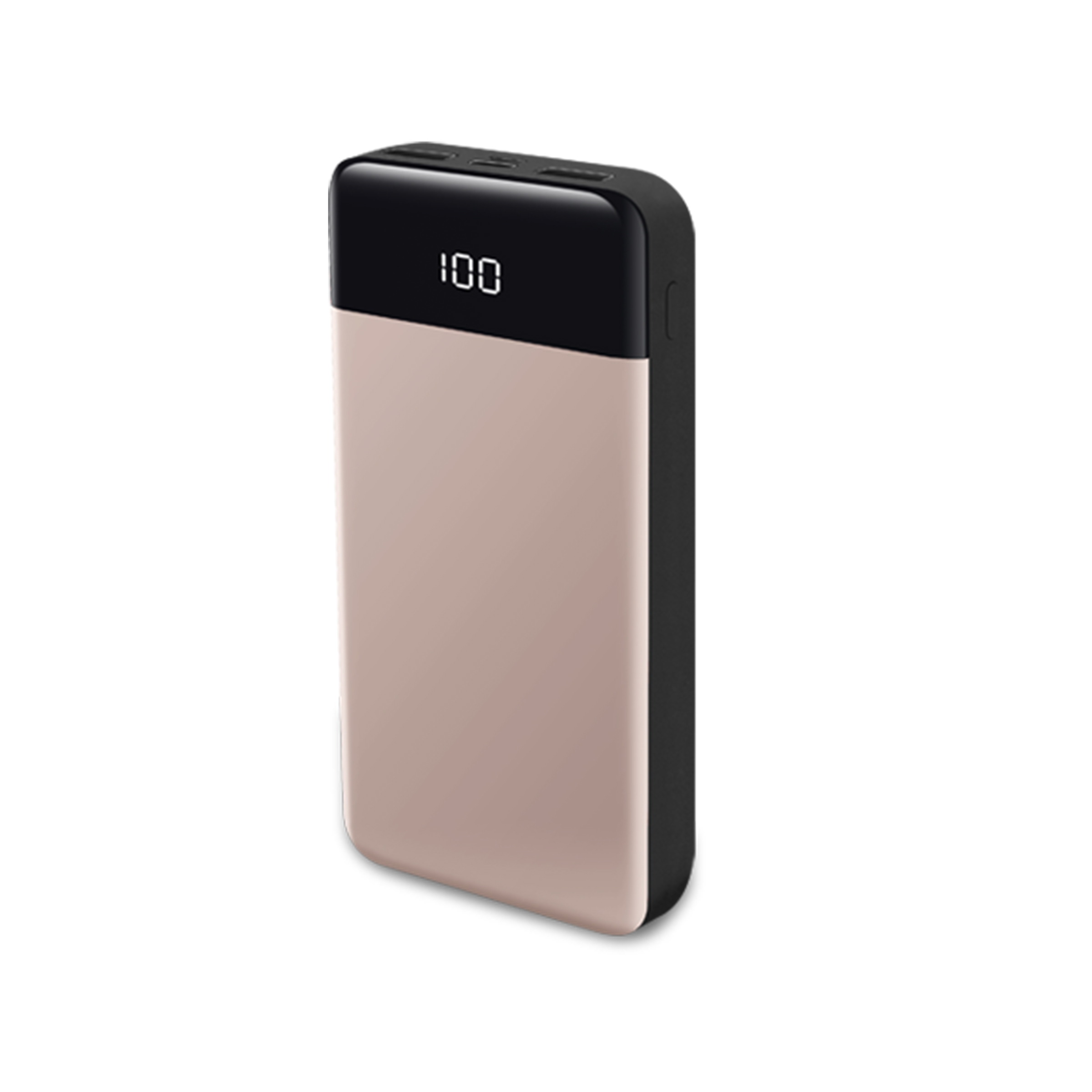 20000mAh compact portable charger, 3-port external battery PD power bank with high speed charging