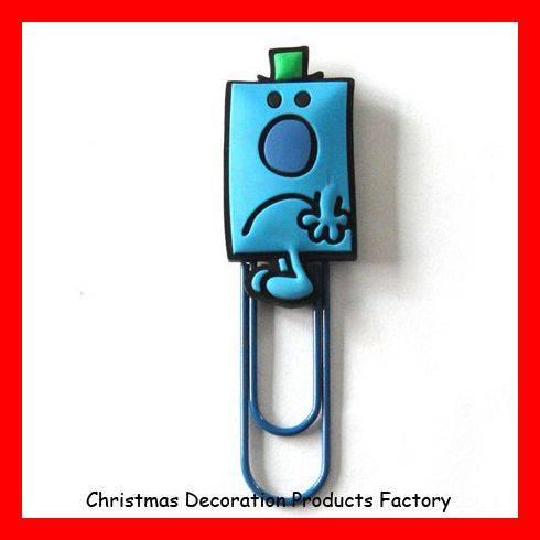 Funny 3D soft pvc paper clips