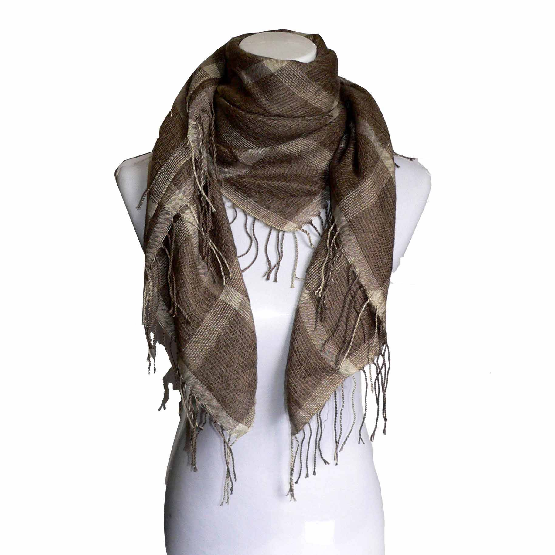 Mohair grid scarf
