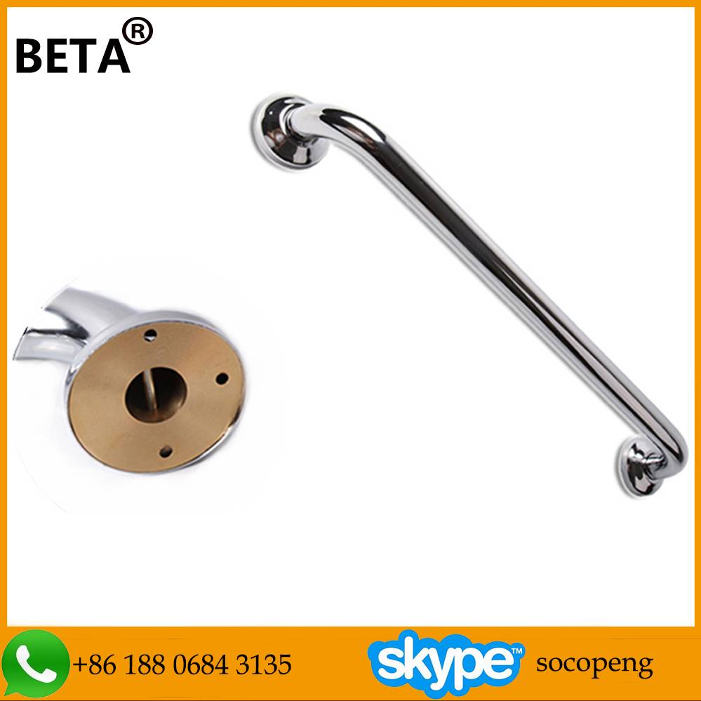Strengthen type good quality stainless steel grab bar with brass baseboard