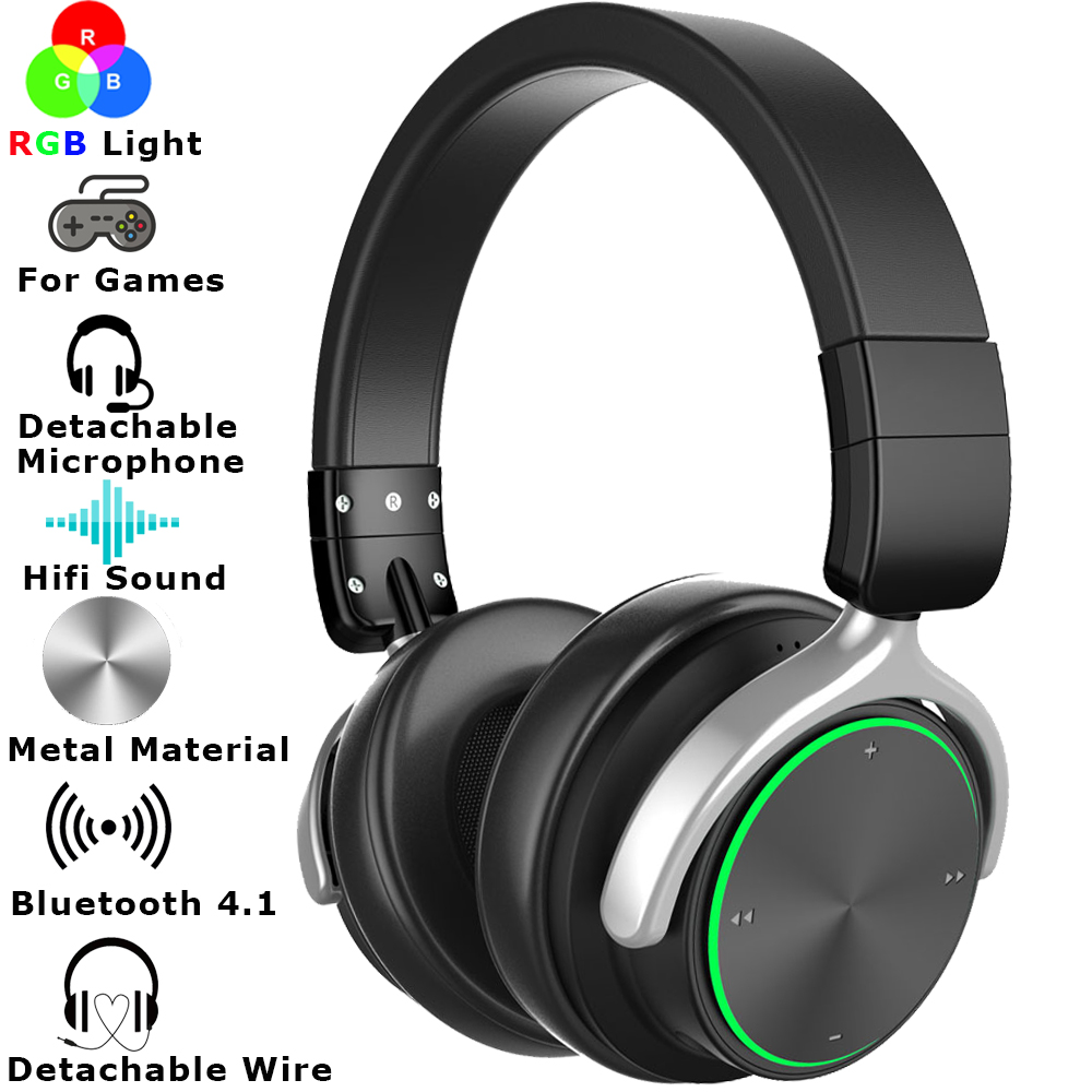 2019 Edition Multiple RGB Light Bluetooth Wireless Gaming Headset For Audio PC PS4 XBOX