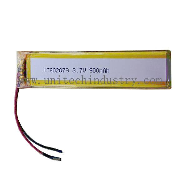Rechargeable lipo Battery UT602079 With 900mAh