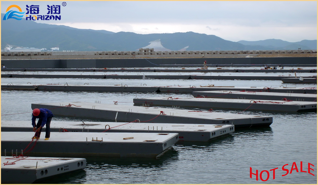 Most Hot Sales Marina Floating Wharf with Qualified Concrete Pontoon