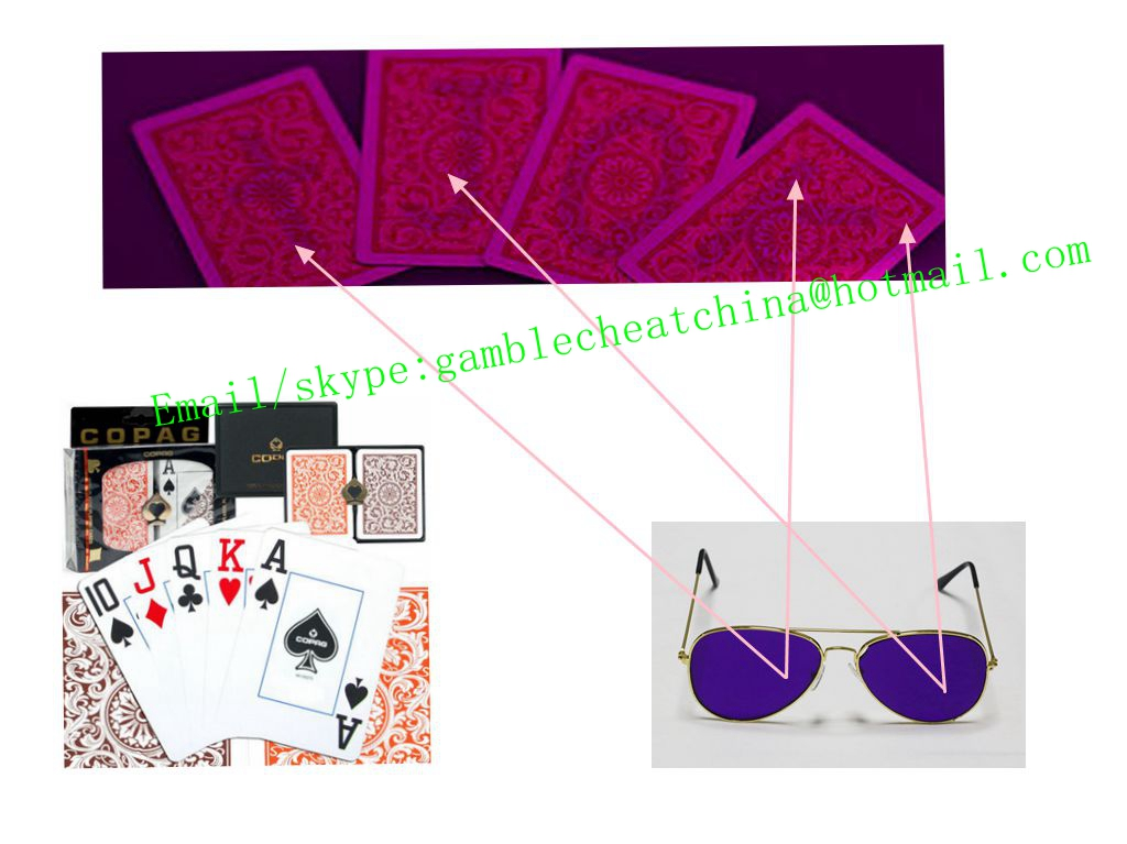 Copag 1546 plastic marked playing cards/uv contact lenses/magic trick/casino cheat/uv ink/game cheat
