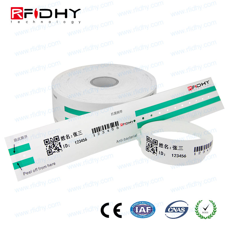 Printable RFID Thermal Paper Wristband for Hospital Management