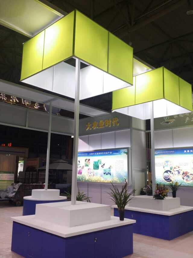 Various designs for fabric system showroom exhibition mall exposition aluminium material board produ