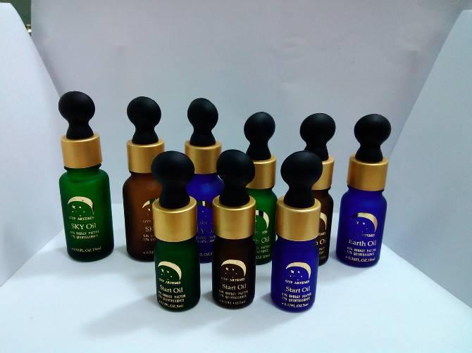 Amber Essential oil bottle, Cobalt blue bottle